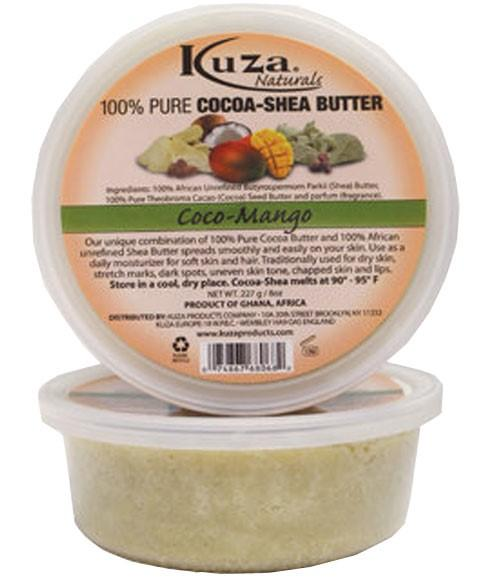 KUZA 100 PERCENT PURE COCOA AND SHEA BUTTER COCO AND MANGO 227G - merry poppins beauty