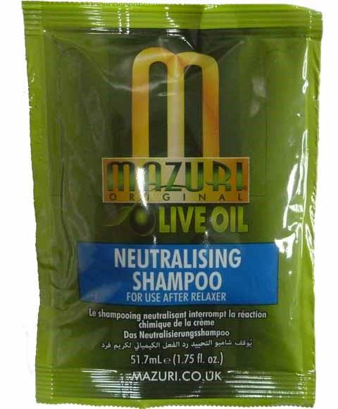 MAZURI OLIVE OIL NEUTRALISING SHAMPOO 51.7ML - merry poppins beauty