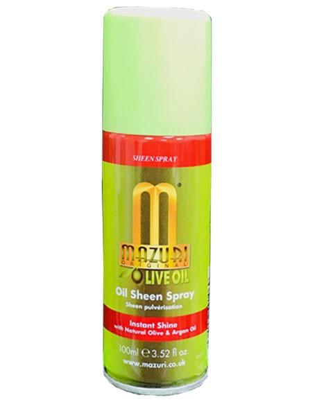 MAZURI OLIVE OIL SHEEN SPRAY TRAVEL SIZE 100ML - merry poppins beauty