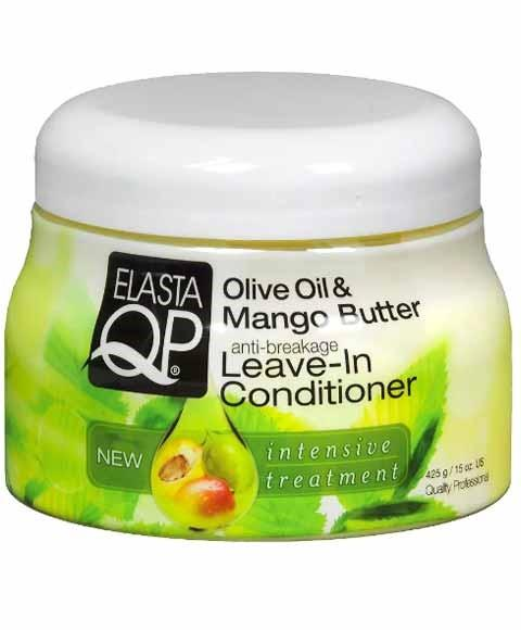 ELASTA QP OLIVE OIL AND MANGO BUTTER ANTI BREAKAGE LEAVE IN CONDITIONER 425G - merry poppins beauty