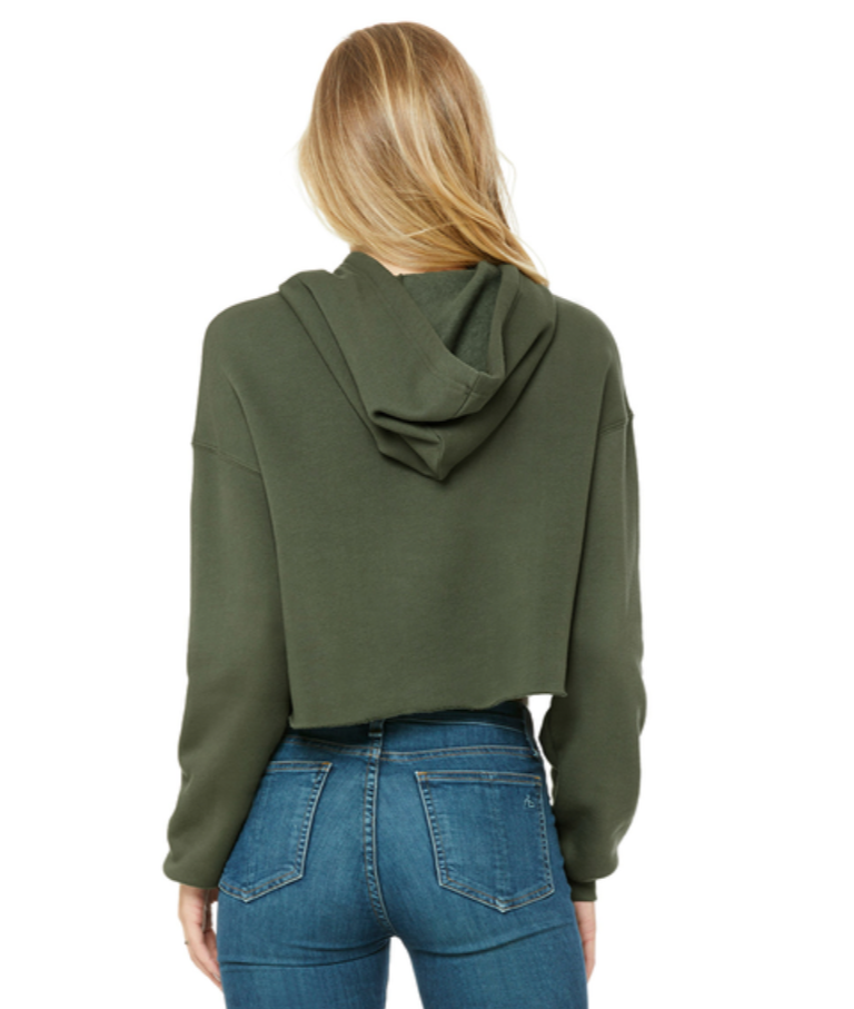 The Cover up (Crop top) Military Green