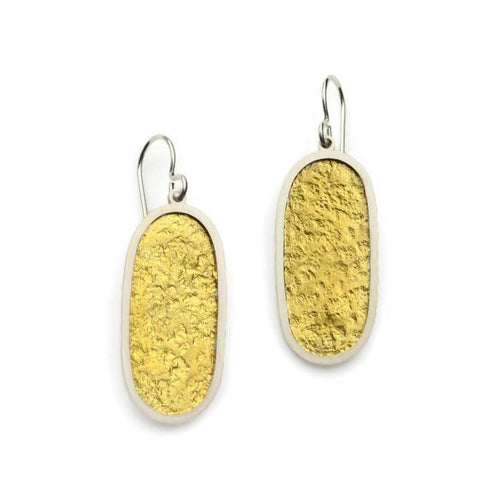 Gold Pill Dangles - Amalia Moon Jewelry