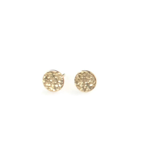 Hammered Studs - Gold Filled - Amalia Moon Jewelry