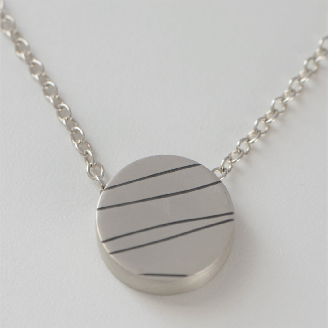 Minimalist Circle Slider Pendant - Amalia Moon Jewelry