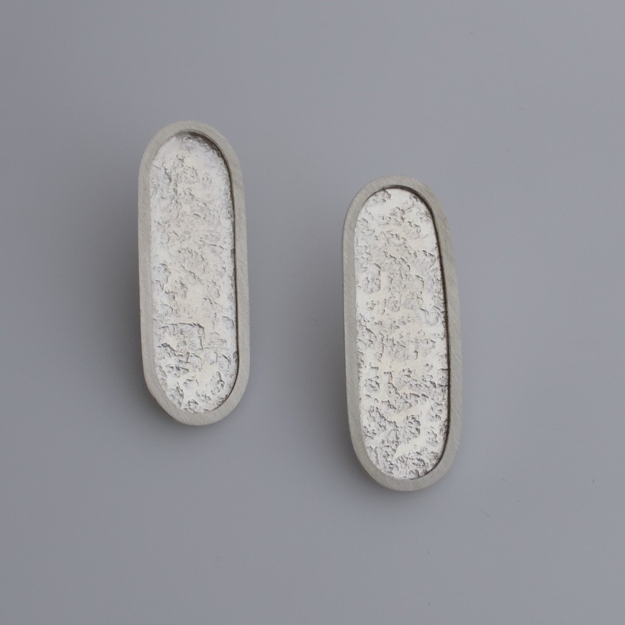 Silver Pill Post Earrings - Amalia Moon Jewelry