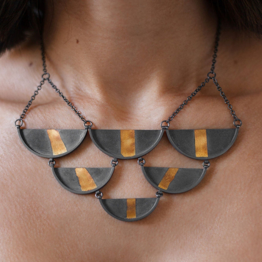 Slice Bib Necklace - Amalia Moon Jewelry