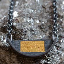 Load image into Gallery viewer, Small Slice Necklace With Gold Rectangle - Amalia Moon Jewelry