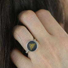 Load image into Gallery viewer, Triangle Ring Size 6 1/2 - Amalia Moon Jewelry
