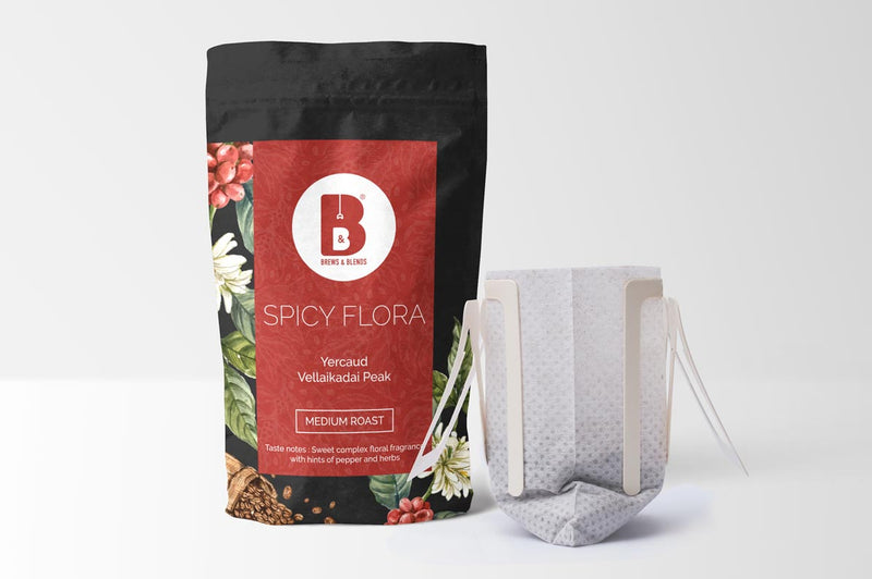 SPICY FLORA | 100% Arabica | Pack of 10 Drip Coffee