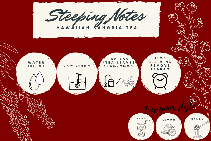 Hawaiian Sangria Black Tea - Exotic Wellness Health Tea Coffee -BREWS & BLENDS