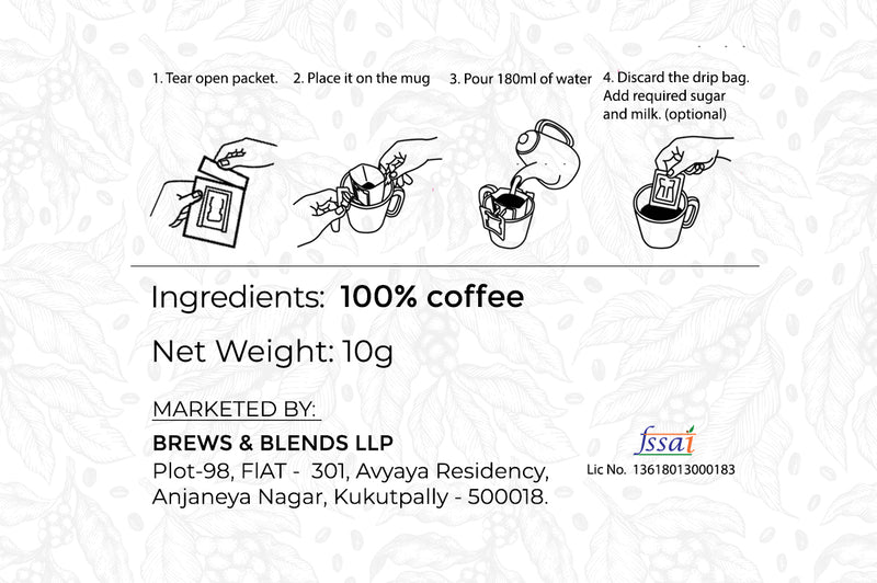 Morning Nectar | 100% Arabica | Pack of 10 Drip Coffee