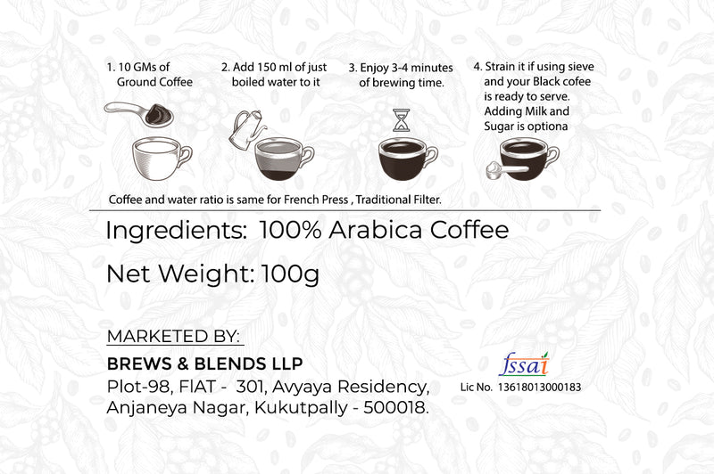 Sangria | 100% Arabica | Loose Pack 100gms