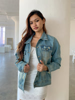 Kaylie Distressed Denim Jacket