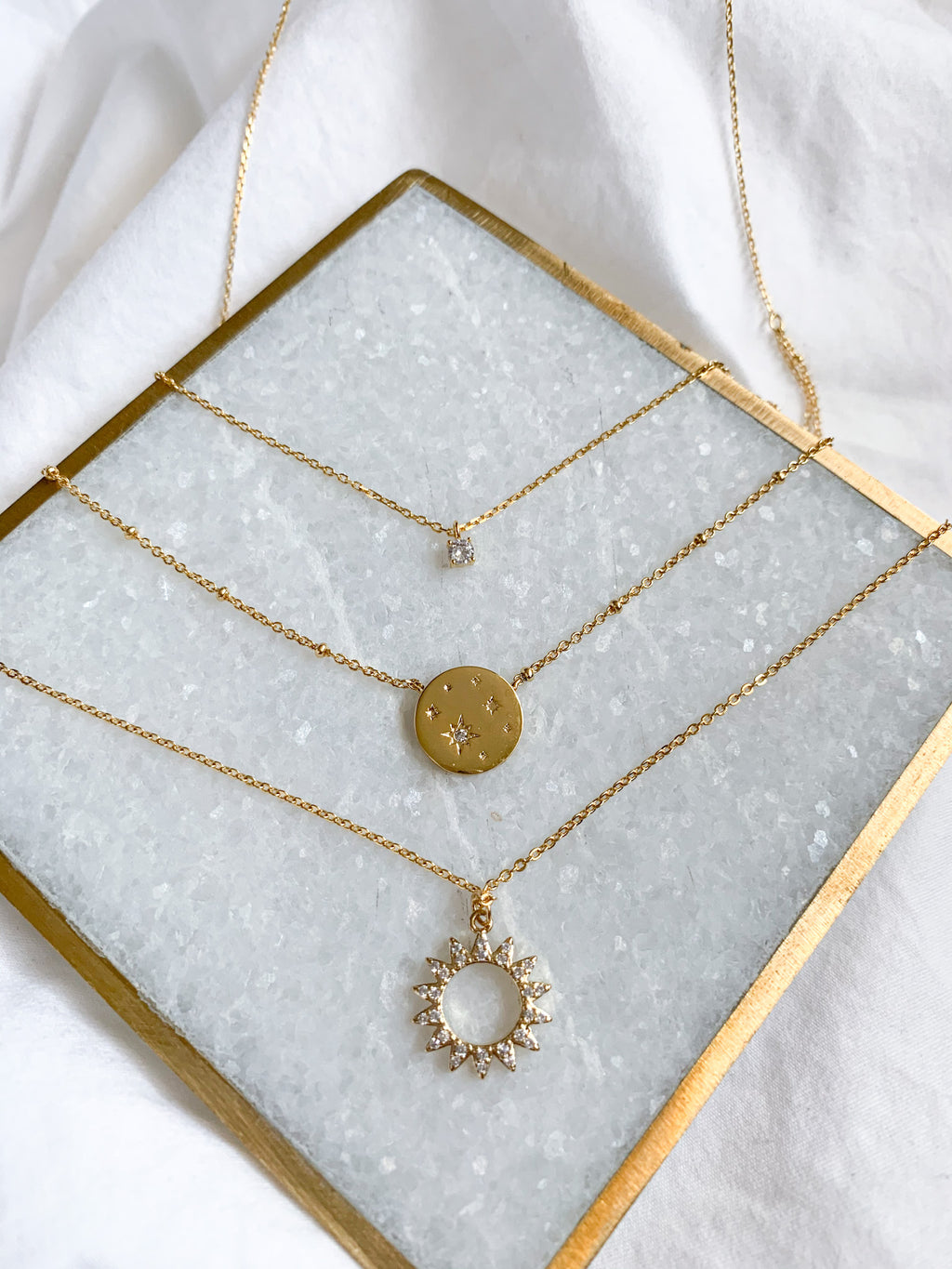 Carli Sun Pendant Necklace