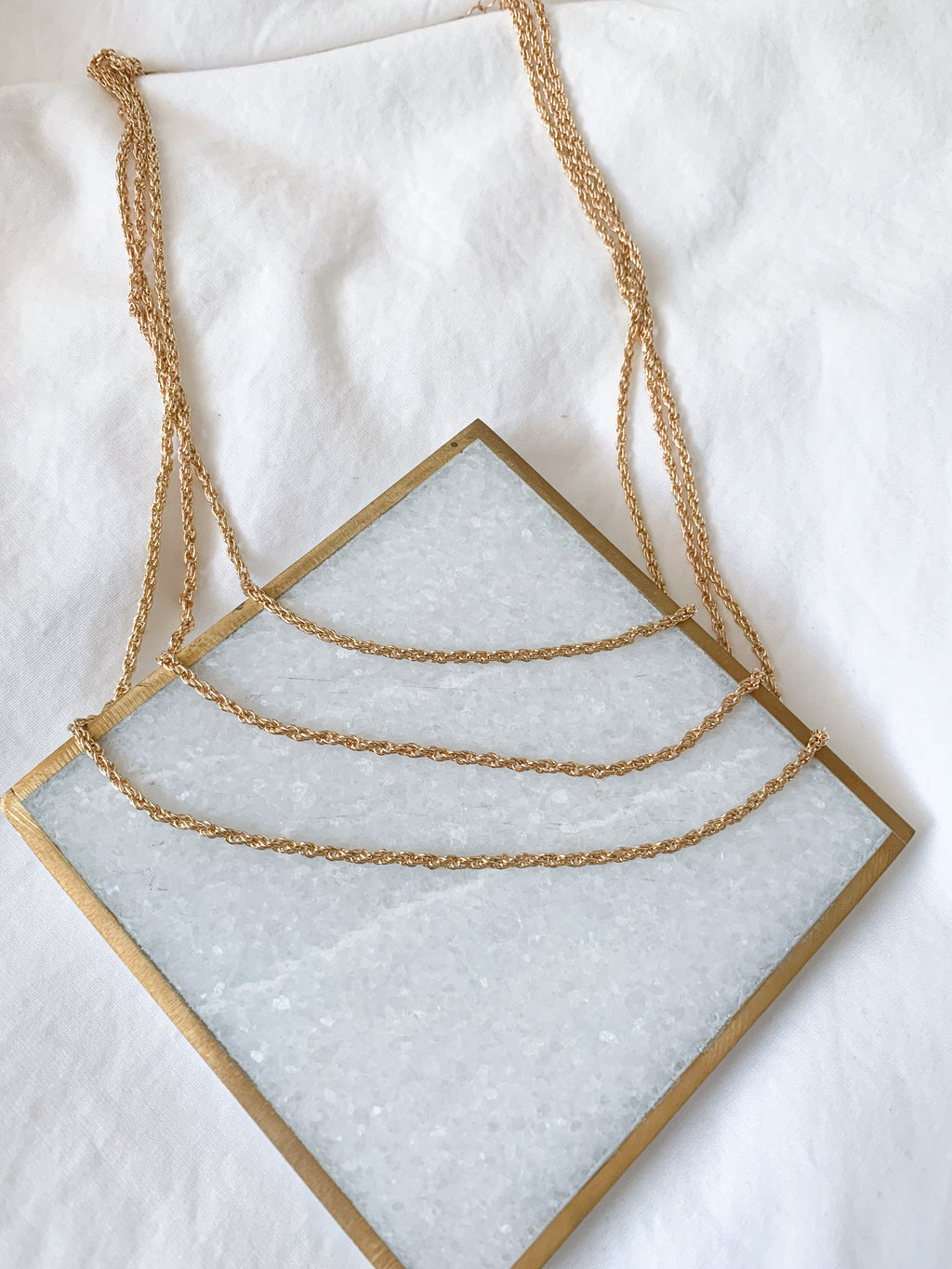 Leila Three Chain Layer Necklace