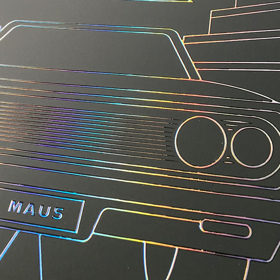 holographic foil poster