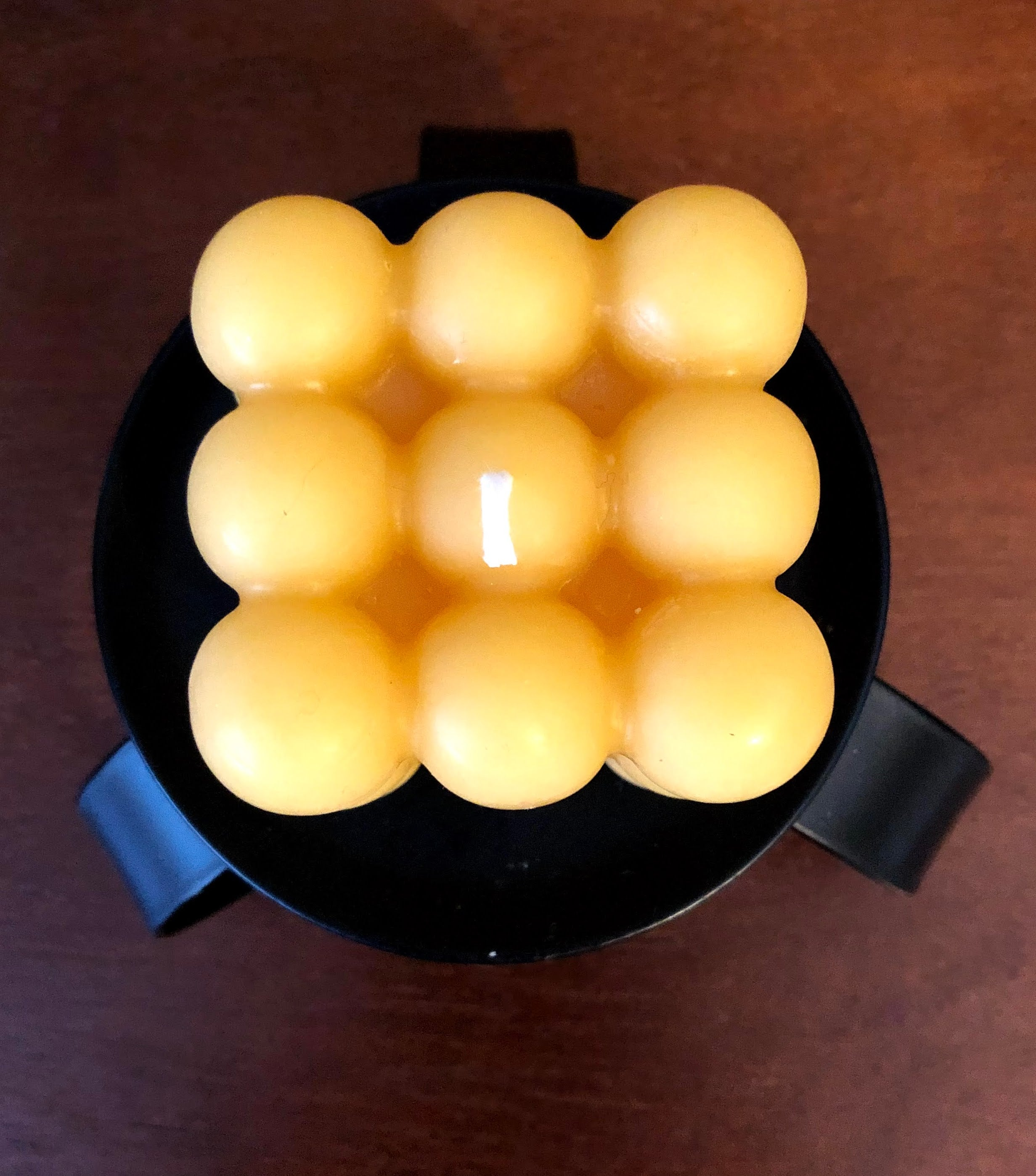Beeswax Bubble Candle