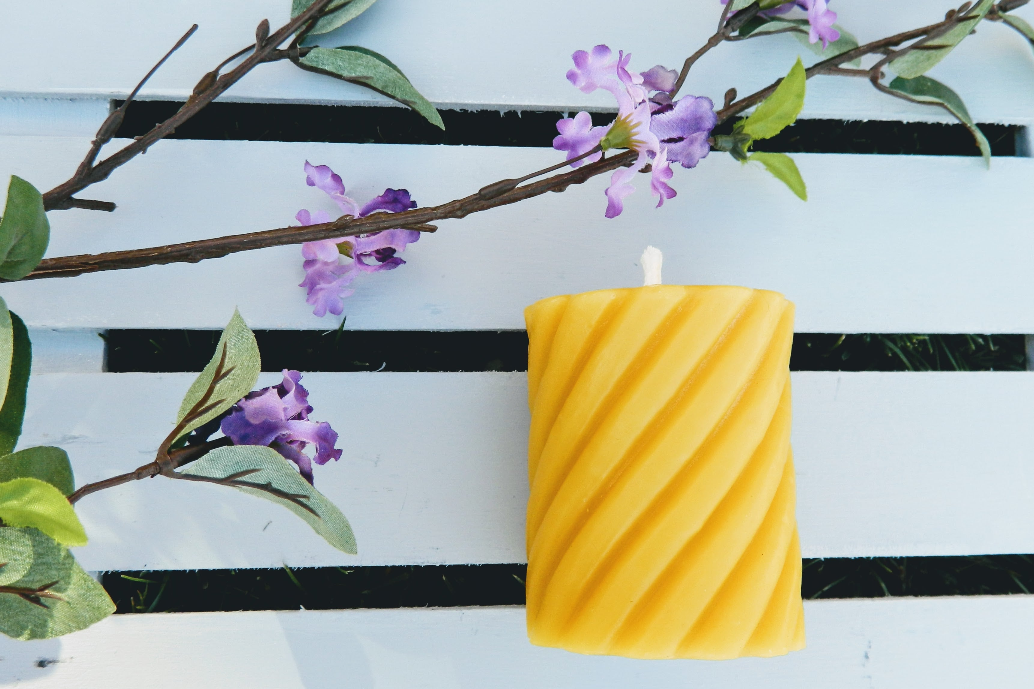 Beeswax Rope Pillar Candle