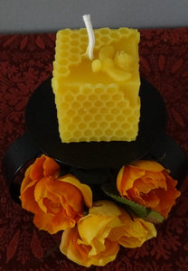 Beeswax Bumblebee Honeycomb Square Candle
