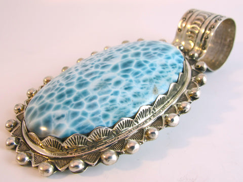 Incredible Larimar Custom Silver Pendant SORRY SOLD