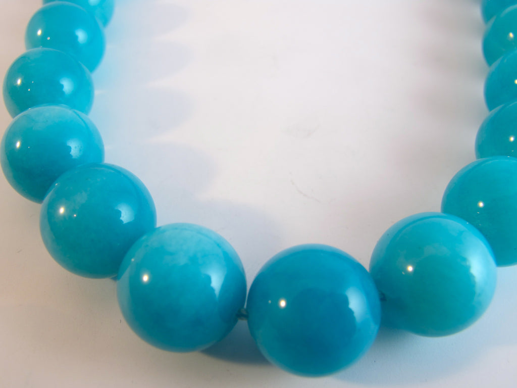 Fine Natural Amozonite Beads