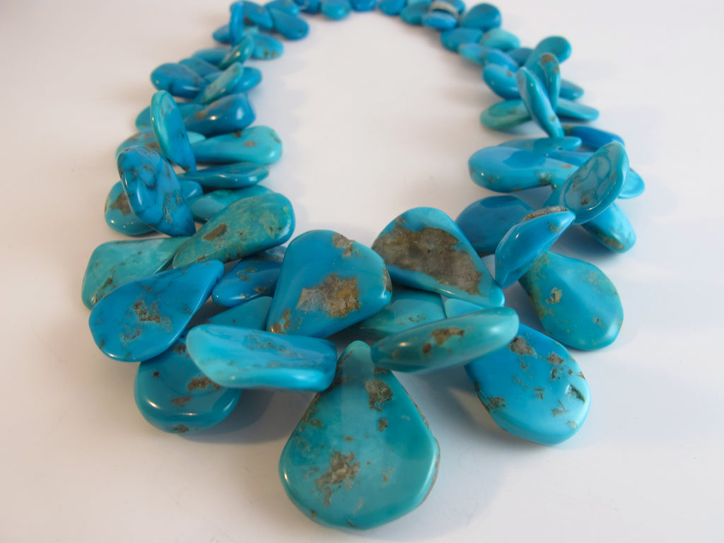 Natural Sleeping Beauty Turquoise Drop Beads SORRY SOLD