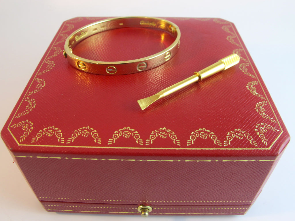 Vintage Cartier 6'' 18kt Yellow Gold 'Love Bracelet' SORRY SOLD