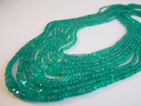 Natural Faceted Emerald Beads from Colombia