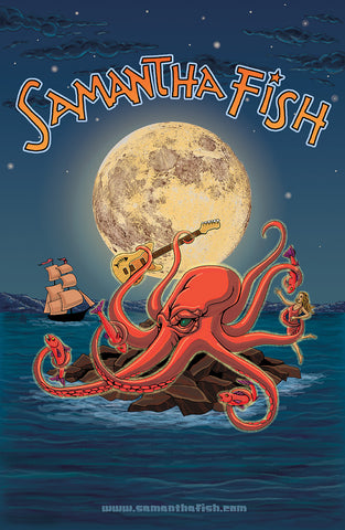 LIMITED EDITION AUTOGRAPHED Samantha Fish Octopus Poster