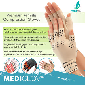 Mediglov™ Compression Gloves for Arthritis, Osteoarthritis and Tendonitis - Medifoot