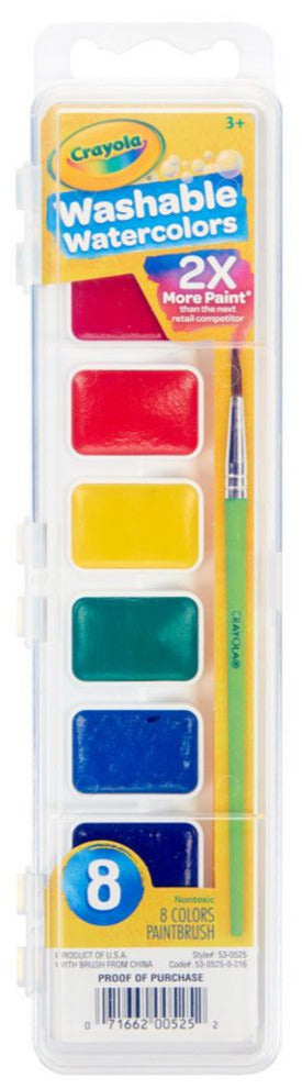 Set of 8 Crayola washable watercolors