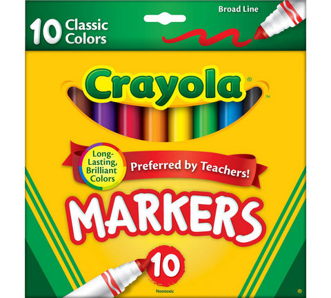 Crayola Markers, Classic Colors