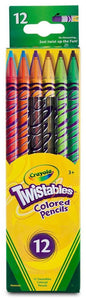 Box of 12 Crayola twistables colored pencils