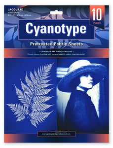 Cyanotype Pretreated Fabric Sheets