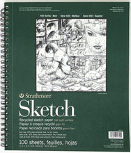 Load image into Gallery viewer, Strathmore White Sketch Pad 400, Recycled