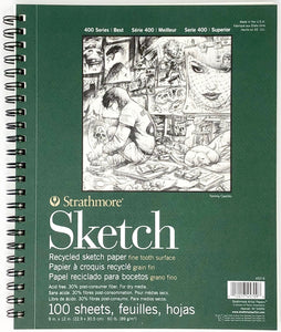 Strathmore White Sketch Pad 400, Recycled