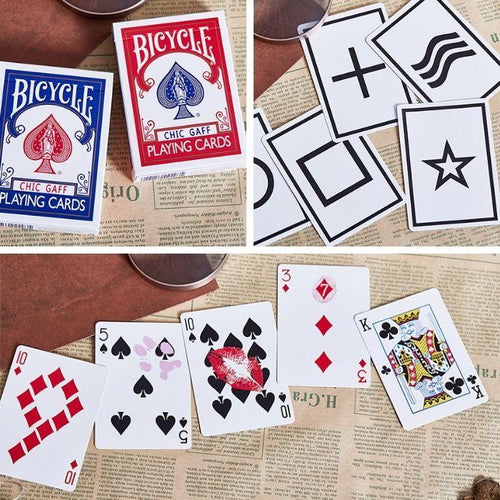 Bicycle Chic Gaff (Red) Playing Cards by Bocopo - Fabbrica Magia