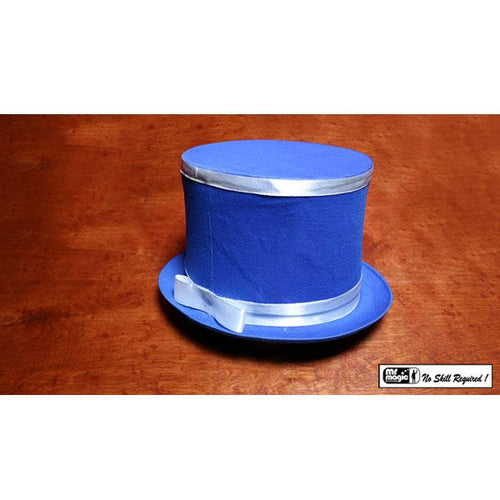 Collapsible Top Hat (Blue) by Mr. Magic - Trick - Fabbrica Magia