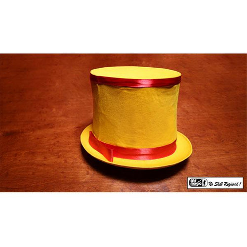 Collapsible Top Hat (Yellow) by Mr. Magic - Trick - Fabbrica Magia
