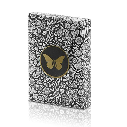 Limited Edition Butterfly Playing Cards Contrassegnate ( Black and Gold ) by Ondrej Psenicka - Fabbrica Magia