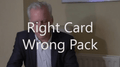 Right Card, Wrong Pack by Brian Lewis video DOWNLOAD - Fabbrica Magia