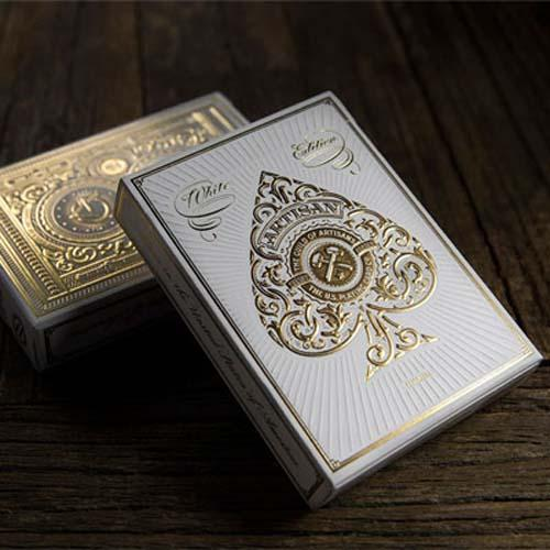 White Artisan Playing Cards Mazzo Di Carte Bicycle - Fabbrica Magia