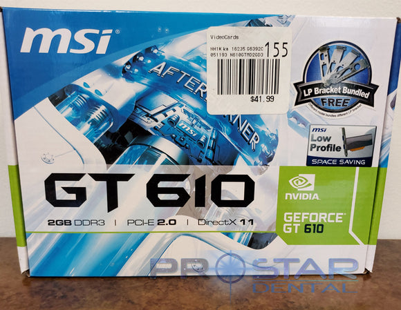 MSI Afterburner GEFORCE GT 610 Graphics Card