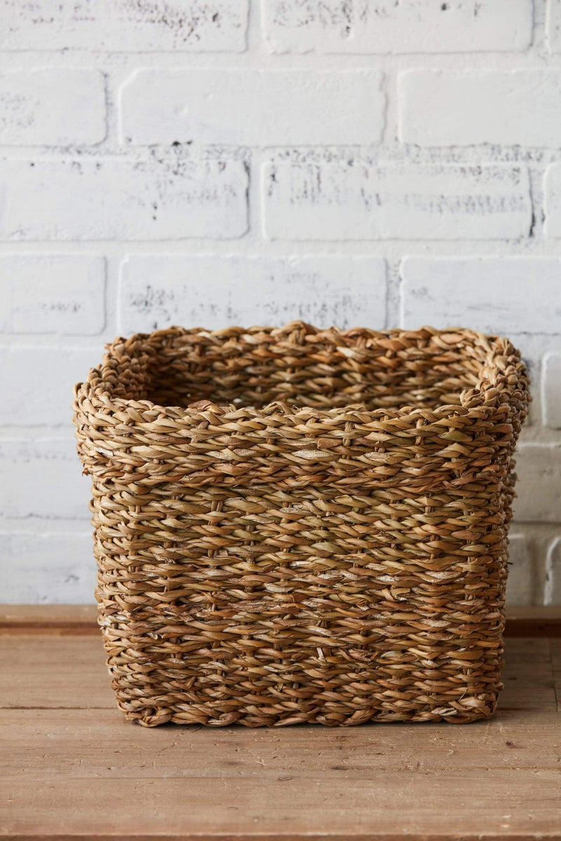 "10"" Natural Woven Seagrass Basket"