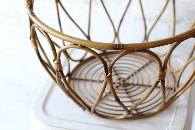 metal bamboo basket storage boho