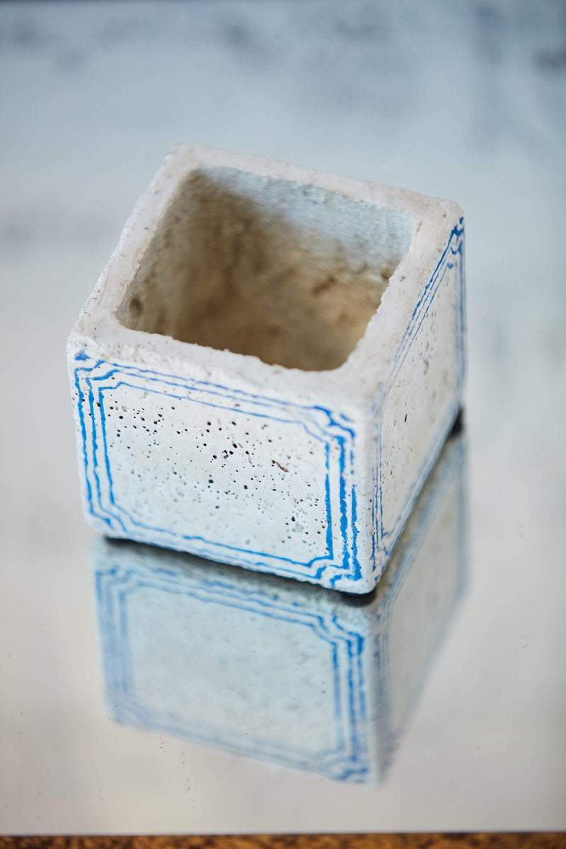 Painted Mini Cement Planter