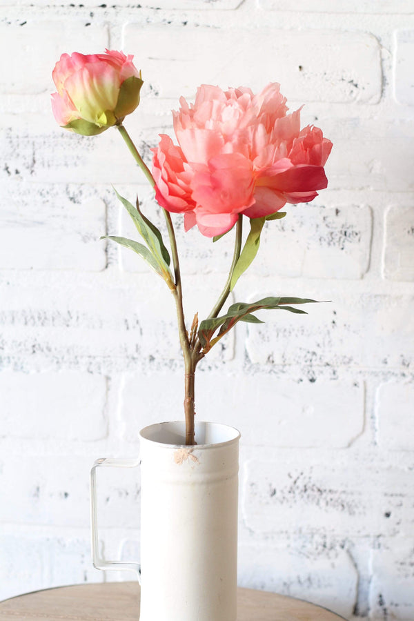 Light Pink Peony Spray faux floral artifical flowers farmhouse french country