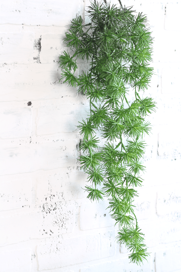 Ming Pine Spray Draping Stem Greenery Faux Artificial