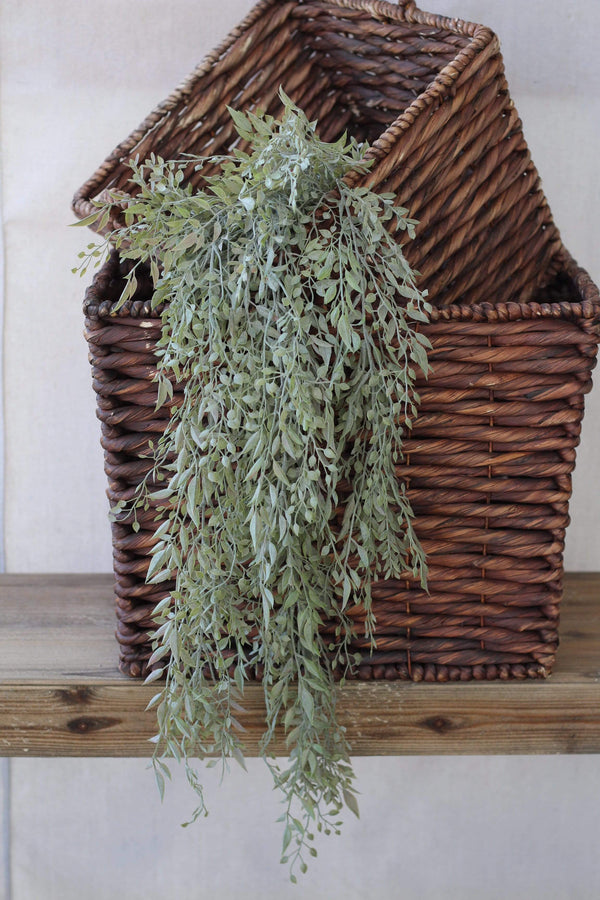Mixed Sage draping stem white pastel green farmhouse french country decor greenery faux plants