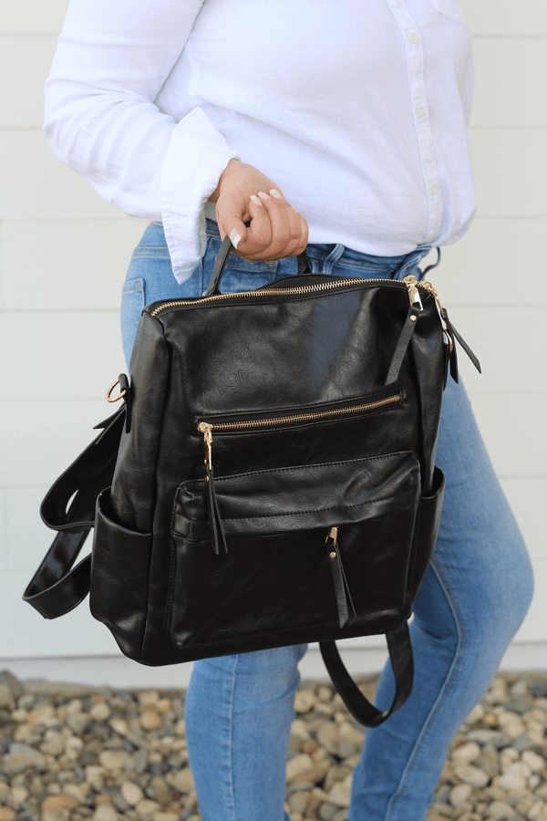Black Convertible Backpack Handbag